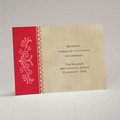 Exotic Touch - Merlot - Reception Card