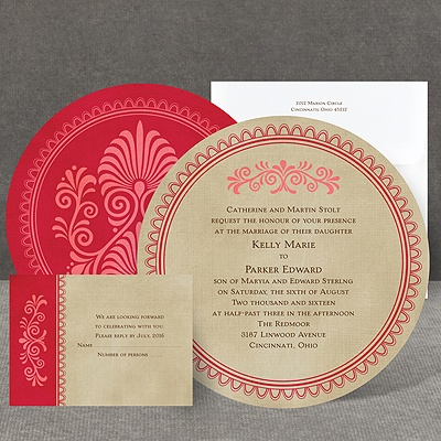 Exotic Touch - Merlot - Invitation