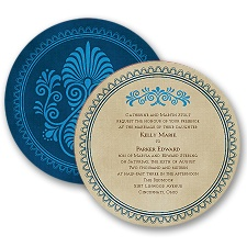 Exotic Touch - Navy - Invitation