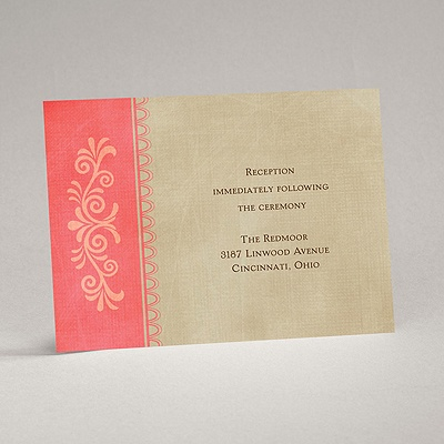 Exotic Touch - Posie Pink - Reception Card