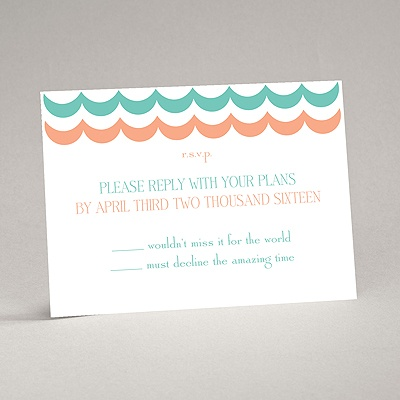 Waves of Color - Response Card and Envelope