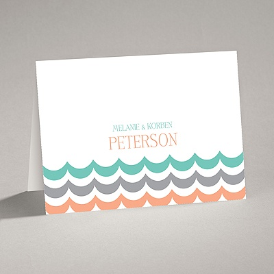 Waves of Color - Note Card and Envelope