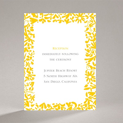 Patterned Dresses - Reception Card