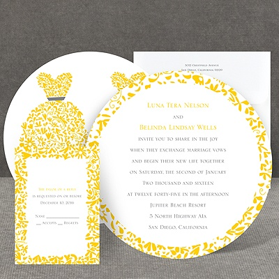 Patterned Dresses - Invitation