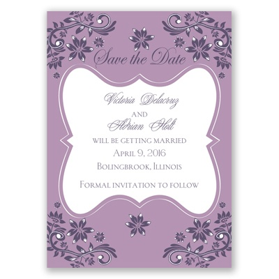 Frosted Flowers - Lavender - Save the Date Magnet