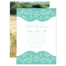Frosted Flowers - Surf - Invitation