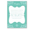Frosted Flowers - Surf - Reception Card