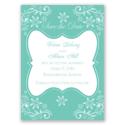 Frosted Flowers - Surf - Save the Date Magnet