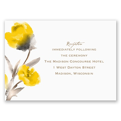 Painted Posies - Canary - Reception Card