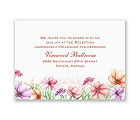 Wedded Bliss - Reception Card