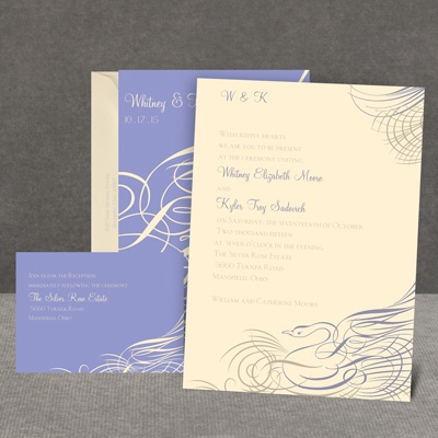 Calligraphy Swan - Invitation