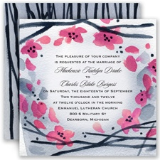Floral Whimsy Frame - Fuchsia - Invitation
