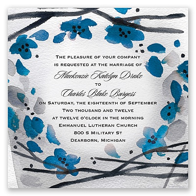 Floral Whimsy Frame - Malibu - Invitation
