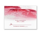 Rushing Watercolor - Cherry - Response Card and Envelope