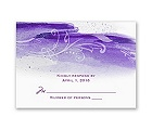 Rushing Watercolor - Grapevine - Response Card and Envelope