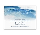Rushing Watercolor - Malibu - Reception Card