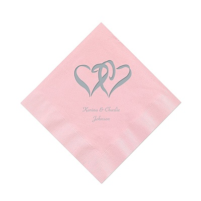 Pastel Pink Cocktail Napkin