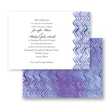 Watercolor Chevron - Invitation