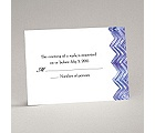 Watercolor Chevron - Response Card and Envelope