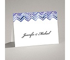 Watercolor Chevron - Note Card and Envelope