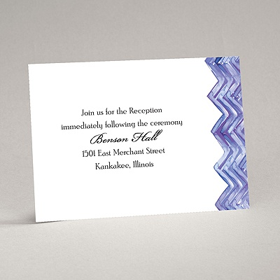 Watercolor Chevron - Reception Card