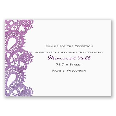 Watercolor Paisley - Grapevine - Reception Card