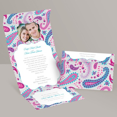 Perfectly Paisley - Palm - Seal and Send Invitation