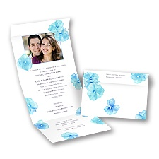 Watercolor Posies - Malibu - Seal and Send Invitation