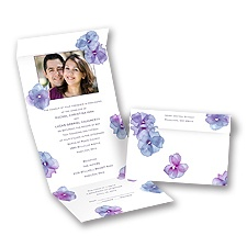 Watercolor Posies - Raisin - Seal and Send Invitation