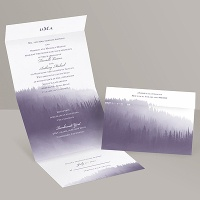 Watercolor Forest - Seal and Send Invitation