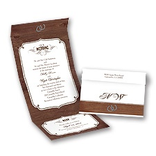 Rustic Wedding - Seal and Send Invitation