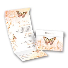 Beautiful Butterflies - Poppy - Seal and Send Invitation