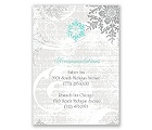 Snowflakes and Swirls - Pewter - Accommodation Card