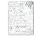 Snowflakes and Swirls - Pewter - Menu Card
