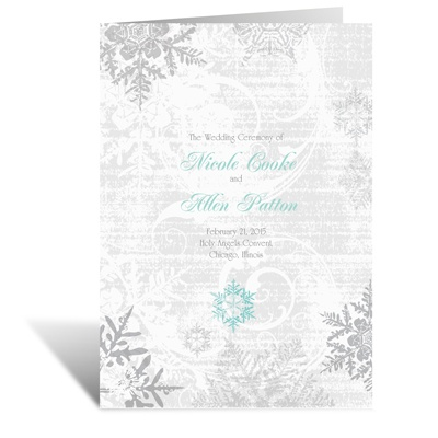 Snowflakes and Swirls - Pewter - Program