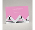 Extremely Chevron - Bubble Gum - Response Card and Envelope