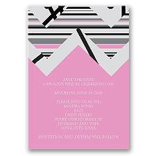 Extremely Chevron - Bubble Gum - Save the Date Magnet