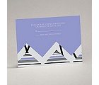 Extremely Chevron - Orchid - Response Card and Envelope