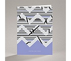 Extremely Chevron - Orchid - Note Card and Envelope