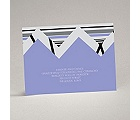 Extremely Chevron - Orchid - Reception Card