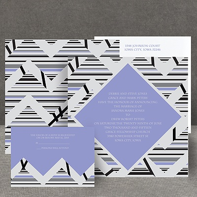 Extremely Chevron - Orchid - Invitation