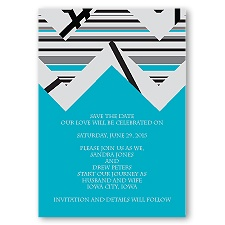 Extremely Chevron - Palm - Save the Date Magnet