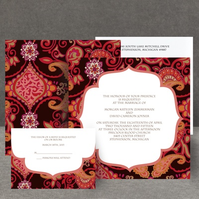 Exotic Flair - Espresso - Invitation