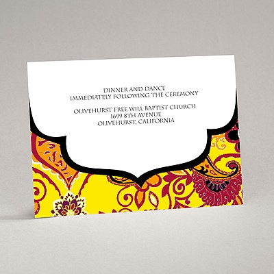 Exotic Flair - Canary - Reception Card