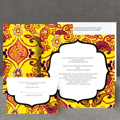 Exotic Flair - Canary - Invitation