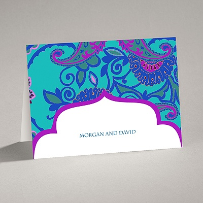 Exotic Flair - Peacock - Note Card and Envelope