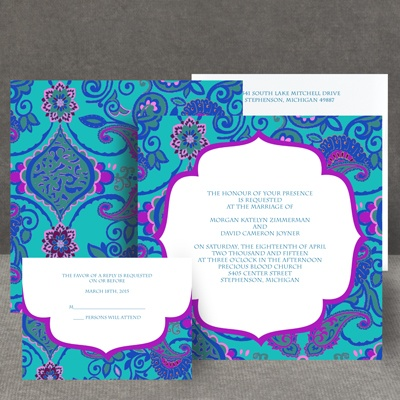 Exotic Flair - Peacock - Invitation