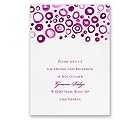 Artsy Romance - Amethyst - Reception Card