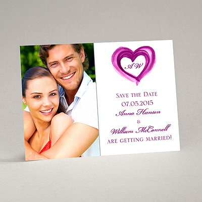 Artsy Romance - Amethyst - Save the Date Magnet