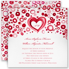 Artsy Romance - Cherry - Invitation